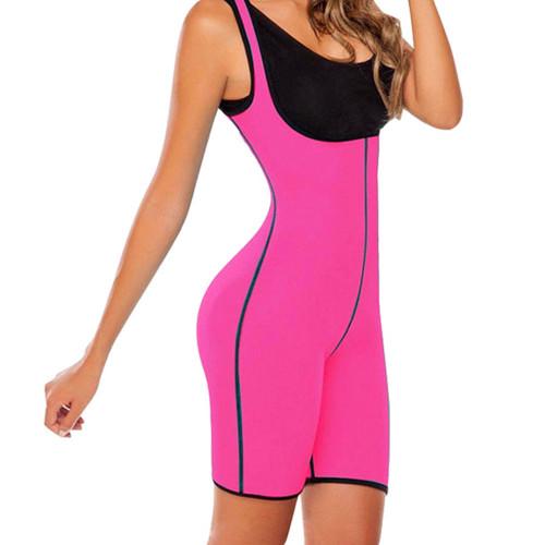 Hot Pink Neoprene Waist Trainer Body Suit Sauna Suit Body Shaper Waist Cincher Bodysuit FREE Shipping.