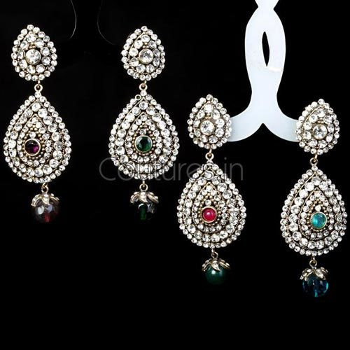 Trendy Stones And Crystal Studded Earrings