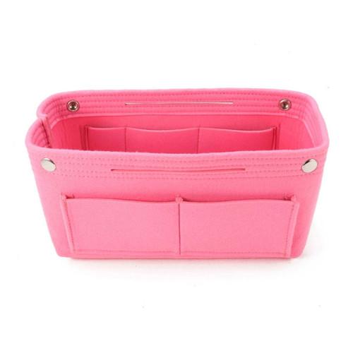 Felt Purse Organizer, Bag in Bag Organizer for Tote, Handbags FREE Eyeglass Pouch by Kaneesha - FREE SHIPPING (Pink)