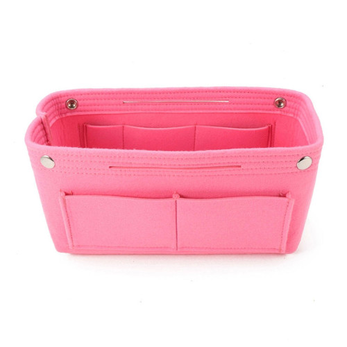 Felt Purse Organizer, Bag in Bag Organizer for Tote, Handbags FREE Eyeglass Pouch by Kaneesha - FREE SHIPPING (Pink)