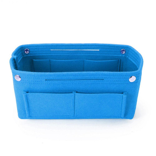 Felt Purse Organizer, Bag in Bag Organizer for Tote, Handbags FREE Eyeglass Pouch by Kaneesha - FREE SHIPPING (Blue)