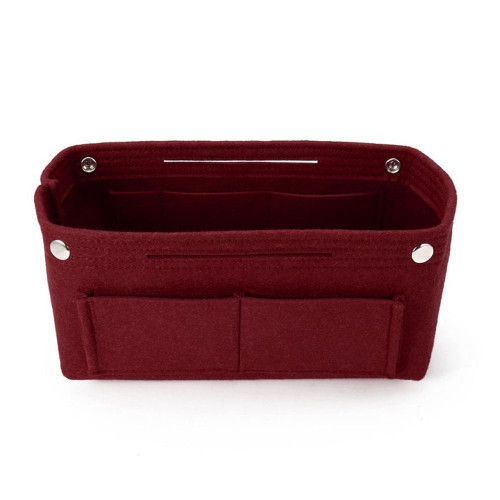 Felt Purse Organizer, Bag in Bag Organizer for Tote, Handbags FREE Eyeglass Pouch by Kaneesha - FREE SHIPPING (Burgundy)