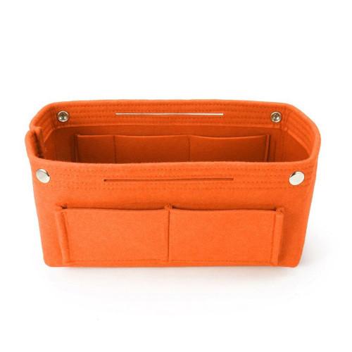 Felt Purse Organizer, Bag in Bag Organizer for Tote, Handbags FREE Eyeglass Pouch by Kaneesha - FREE SHIPPING (Orange)