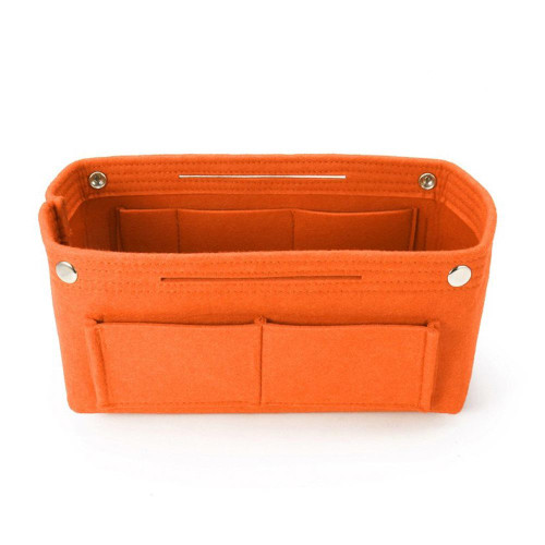 Felt Purse Organizer, Bag in Bag Organizer for Tote, Handbags FREE Eyeglass Pouch by Kaneesha - FREE SHIPPING (Orange)