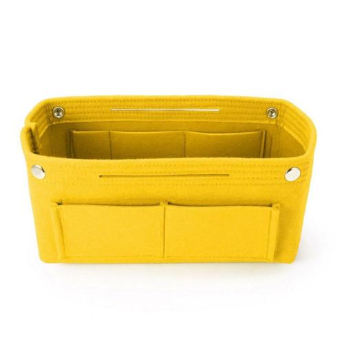 Felt Purse Organizer, Bag in Bag Organizer for Tote, Handbags FREE Eyeglass Pouch by Kaneesha - FREE SHIPPING (Yellow)