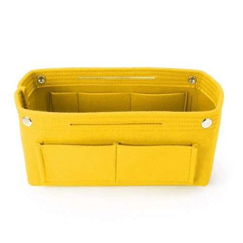 Felt Purse Organizer, Bag in Bag Organizer for Tote, Handbags FREE Eyeglass Pouch by Kaneesha - FREE SHIPPING (Yellow)