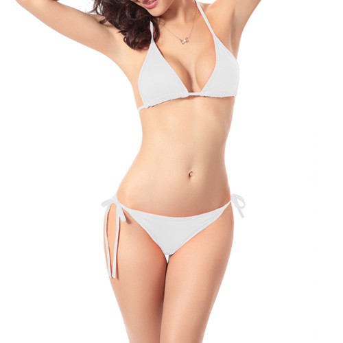String Bikini Two Piece White Sexy Low Waisted for Women Sexy Bathing Suit Brazilian Bikini Swimwear FREE Eyeglass Pouch by Kaneesha - FREE SHIPPING