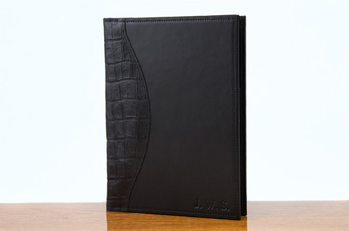 Jr. Padfolio Black Gator with Black Bridle