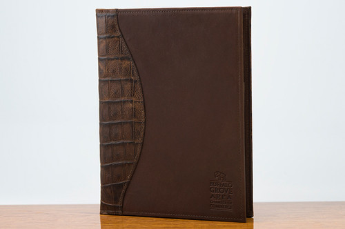 Jr. Padfolio Cognac Gator with Brown
