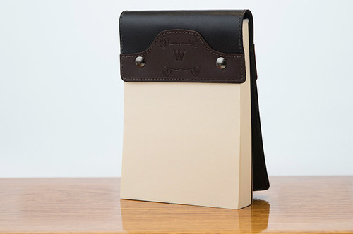 Small Notepad Brown Calf with Black Calf