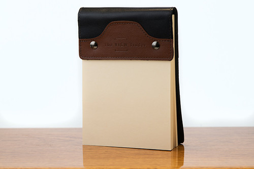 Small Notepad Tan Calf with Black Calf