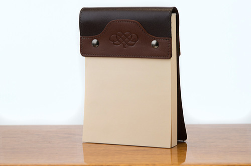 Small Notepad Tan Calf with Brown Calf