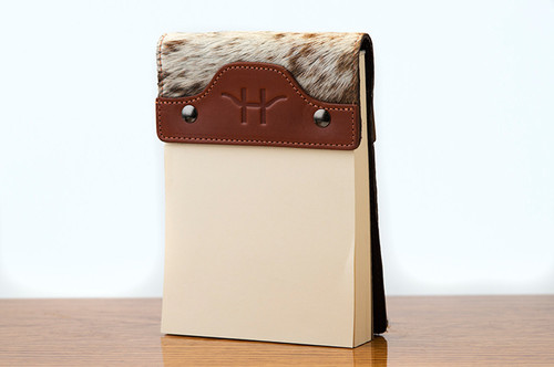 Small Notepad Chestnut with Brown & White HOH