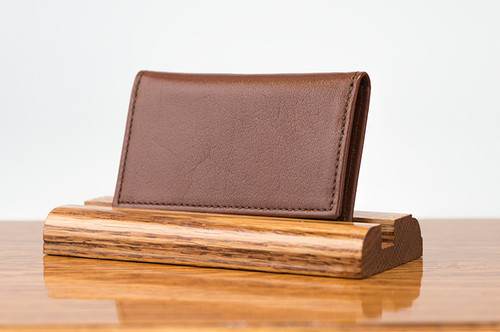 Personal Card Holder Tan Calf