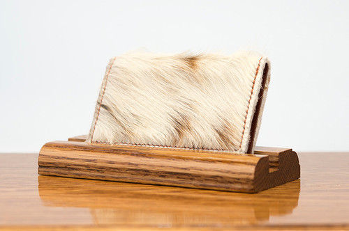 Personal Card Holder Brown & White HOH