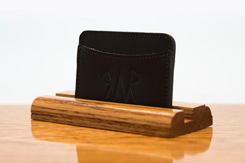 3 Pocket Card Case Black Bridle