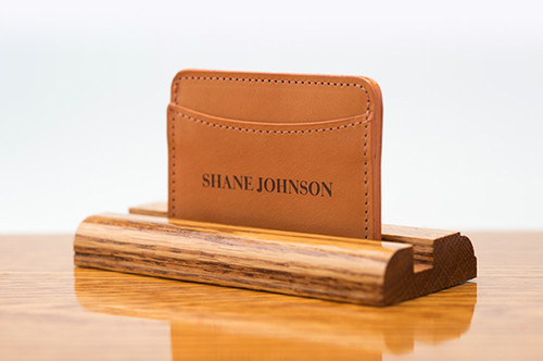 3 Pocket Card Case Tan Bridle