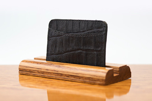 3 Pocket Card Case Black Gator