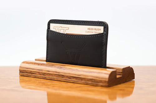3 Pocket Card Case Black Calf