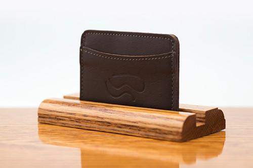 3 Pocket Card Case Brown Calf