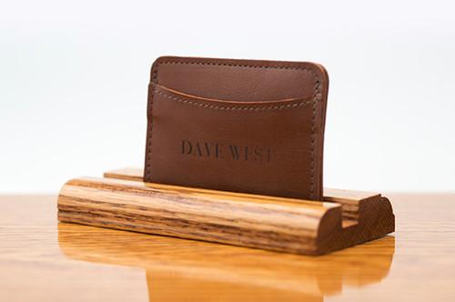 3 Pocket Card Case Tan Calf