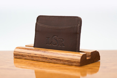 3 Pocket Card Case Brown Boomer