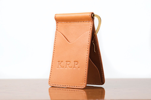 Spring Clip Wallet Tan Bridle
