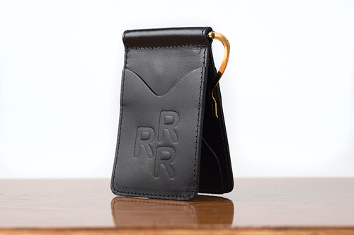 Spring Clip Wallet Black Calf
