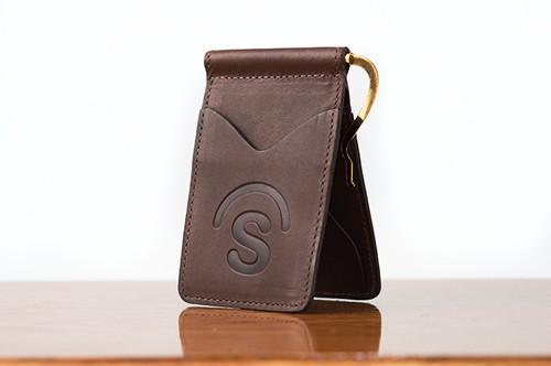 Spring Clip Wallet Brown Boomer