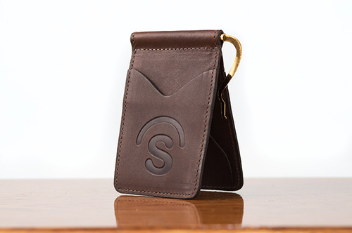 Spring Clip Wallet Brown Boomer