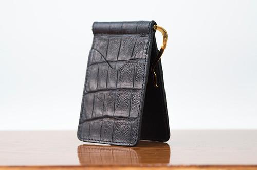 Spring Clip Wallet Black Gator