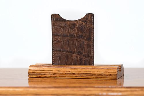 Magnetic Clip Wallet Cognac Gator