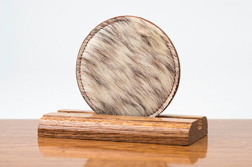 2 Sided Brown & White HOH with Chestnut Coaster