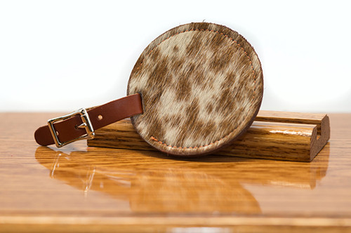 Bag Tag Chestnut with Brown & White HOH