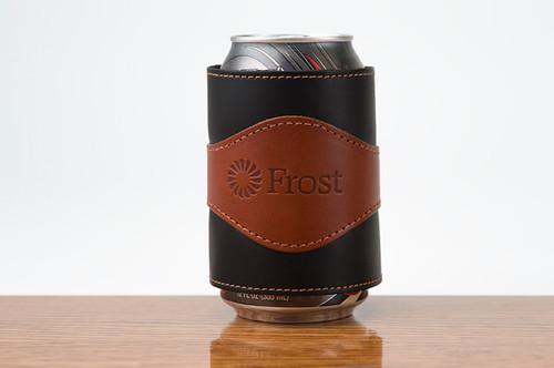 Beverage Wrap Chestnut Bridle with Black Bridle