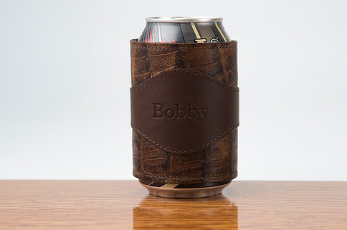 Beverage Wrap Brown Boomer with Cognac Gator