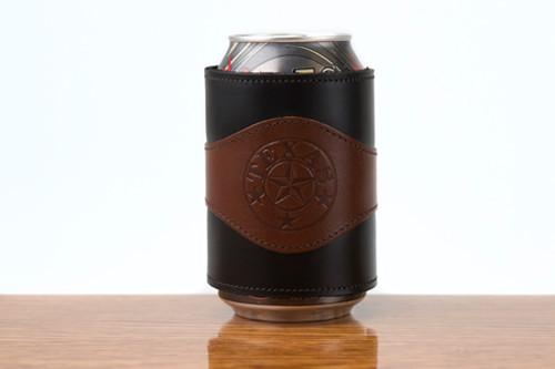 Beverage Wrap Tan Calf with Black Calf