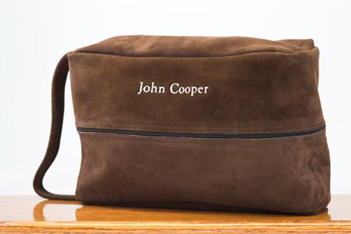 Golf Shoe Bag Chocolate Cow Suede