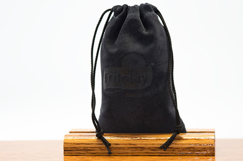 Petite Pouch Navy Pig Suede