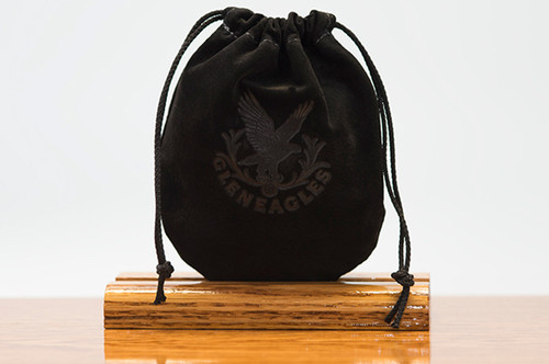 Medium Pouch Black Pig Suede