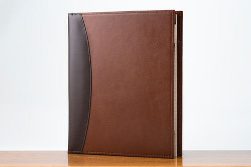 Sr. Padfolio Brown Calf with Tan Calf