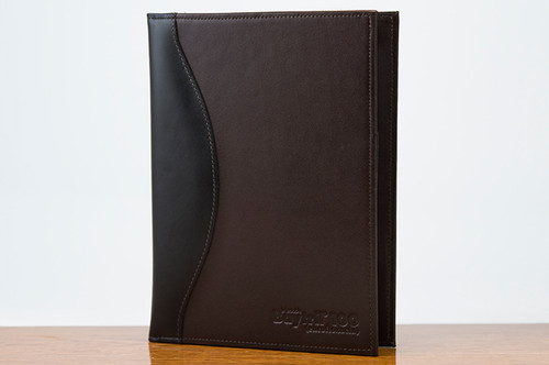 Jr. Padfolio Black Calf with Brown Calf