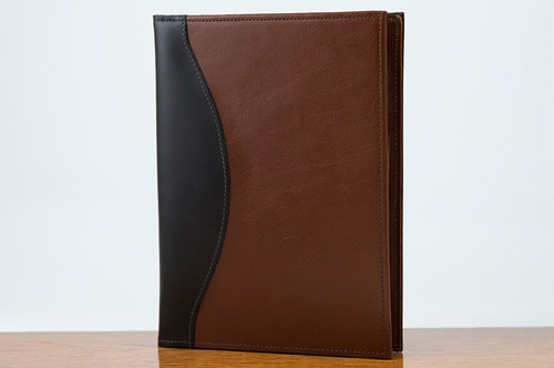 Jr. Padfolio Black Calf with Tan Calf