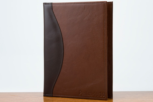 Jr. Padfolio Brown Calf with Tan Calf