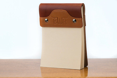 Small Notepad Tan Bridle with Chestnut Bridle