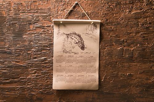 """Calendar 12"""" W x 20"""" H"""