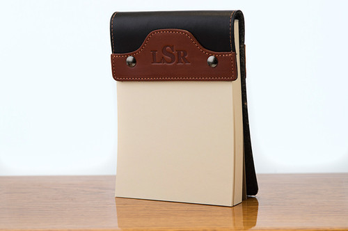 Small Notepad Chestnut Bridle with Black Bridle