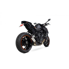 KTM 1290 Super Duke R & GT, '14-, Red Power / Silp-on Brushed Stainless Steel