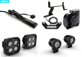 DENALI Primary & Secondary TriOptic LED & GEN II CANsmart, Bundle With SoundBomb & B6 Tail Light For BMW R1250GS '19- & R1200GS LC (DENALI-P/S-CSB-GS)