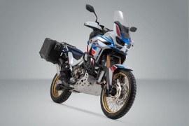 SW-MOTECH TRAX ADV aluminium side case system for HONDA CRF1100 L Africa Twin Adventure Sports SD09 (19-20) (Black) (KFT.01.942.70000/B)